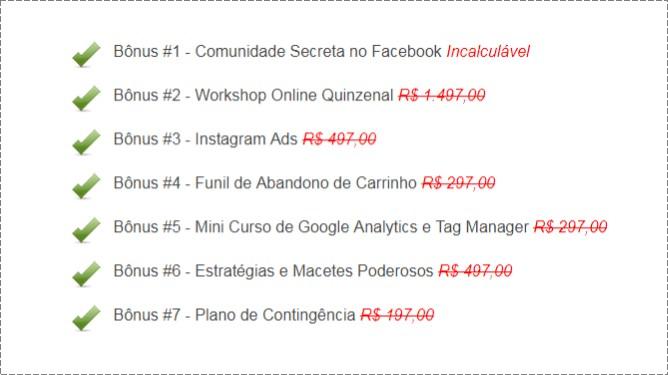 Acelerador de Anúncios - Micha Menezes | Bônus