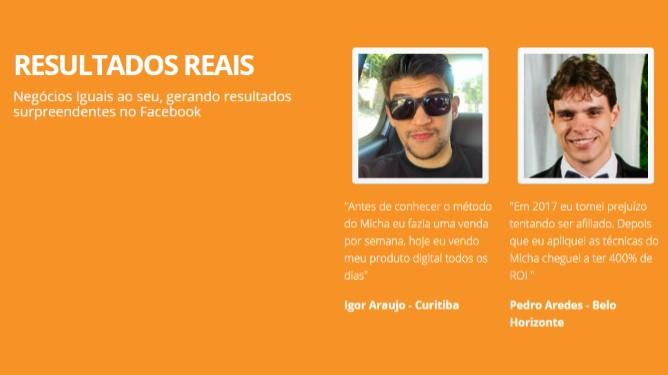 Acelerador de Anúncios - Micha Menezes | Depoimentos 2