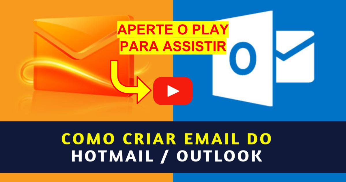 Como Criar Email do Hotmail ou Outlook