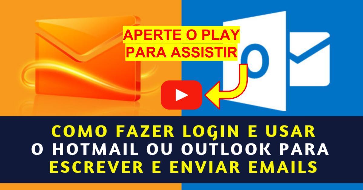 Como Fazer Login e Usar o Hotmail ou Outlook pra Escrever e Enviar Emails