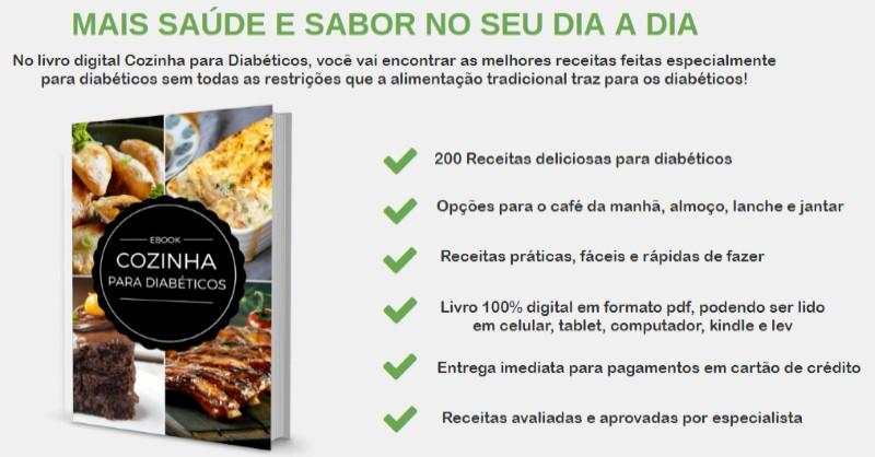 Cozinha para Diabéticos - eBook com Receitas para Controlar a Diabete da Helena Matos