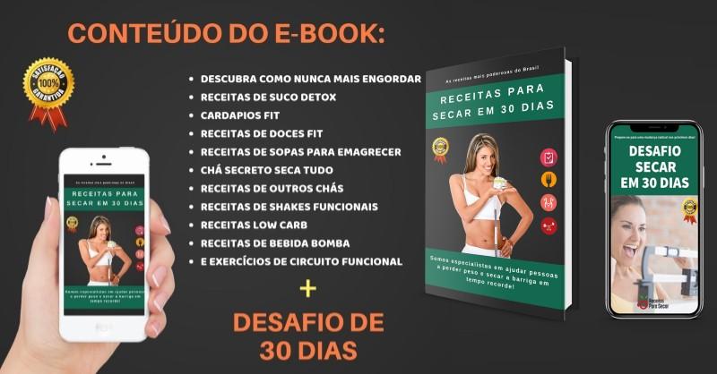 Receitas para Secar em 30 Dias - eBook de Emagrecimento do Felipe Moreno - Funciona, É Confiável, É Bom