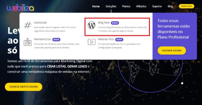 Blog Now - A Ferramenta para Criar um Blog na Internet da Webiliza - Funciona, É bom, Vale a Pena, Furada, Fraude