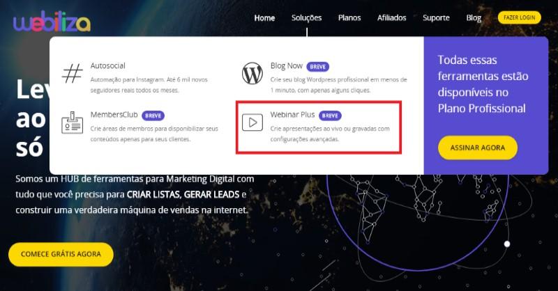 Webinar Plus - A Ferramenta para Webinar AoVivo ou Gravado com Interações Simuladas daWebiliza - Funciona, É bom, Vale a Pena, Furada, Fraude